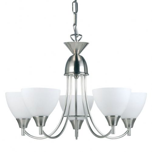 Satin Chrome Fitting Plus Opal Glass 1805-5SC